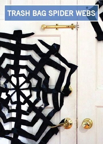 Trash Bag Spider Webs Are An Easy And Inexpensive Way To Decorate