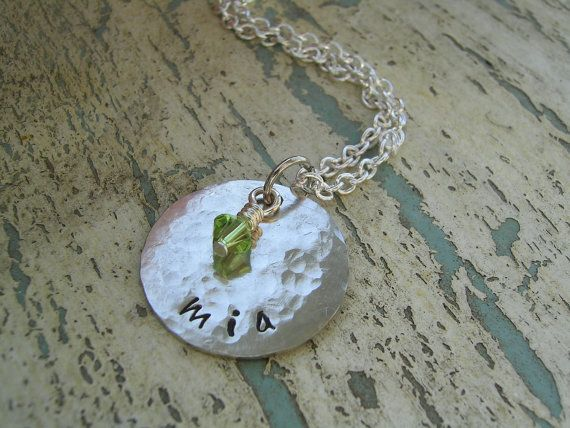 Hand Stamped Jewelry  Personalized Necklace. by KottageKreations, $24.00