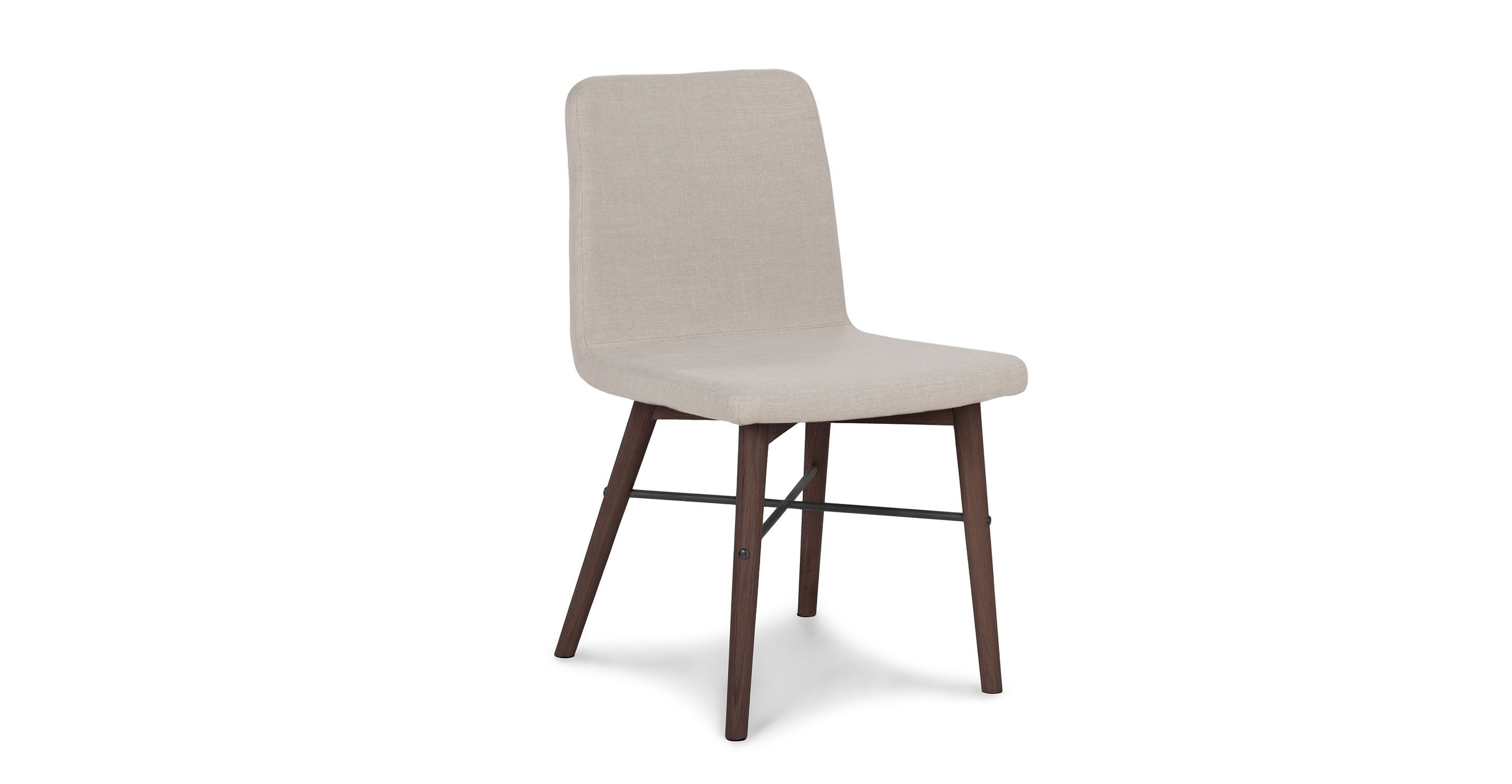 Remarkable Kissa Flax Beige Matte Walnut Dining Chair Dining Room Caraccident5 Cool Chair Designs And Ideas Caraccident5Info