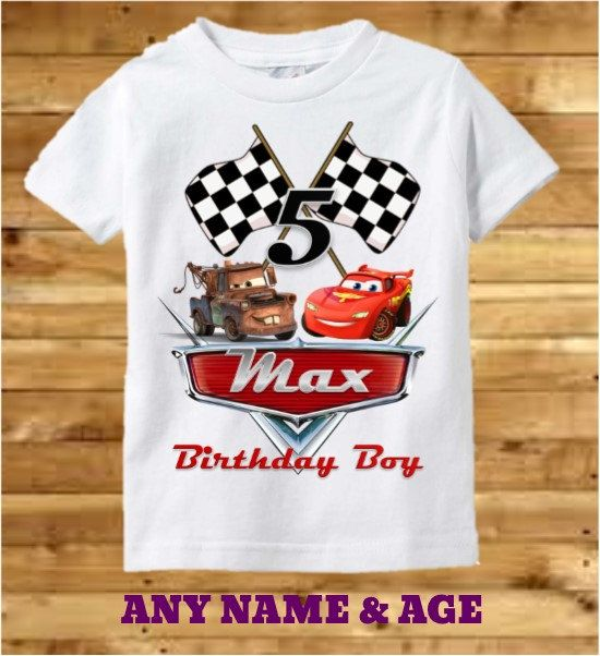 Disney Cars Birthday Shirt Cars Birthday By Preciouscreations7 Cumple De Cars Tarjetas De Cumpleanos Para Imprimir Decoracion Cumpleanos Cars