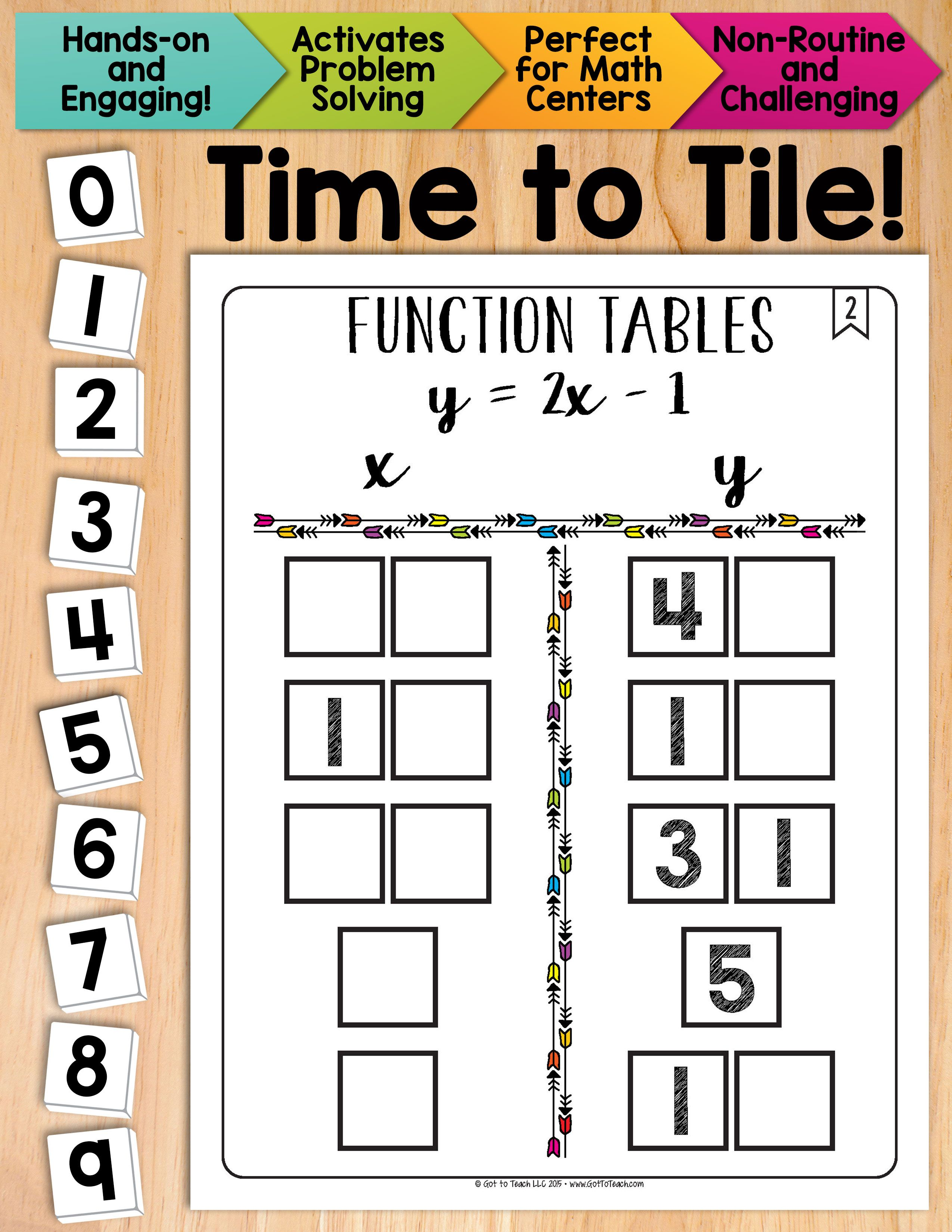 Math Tiles Function Tables