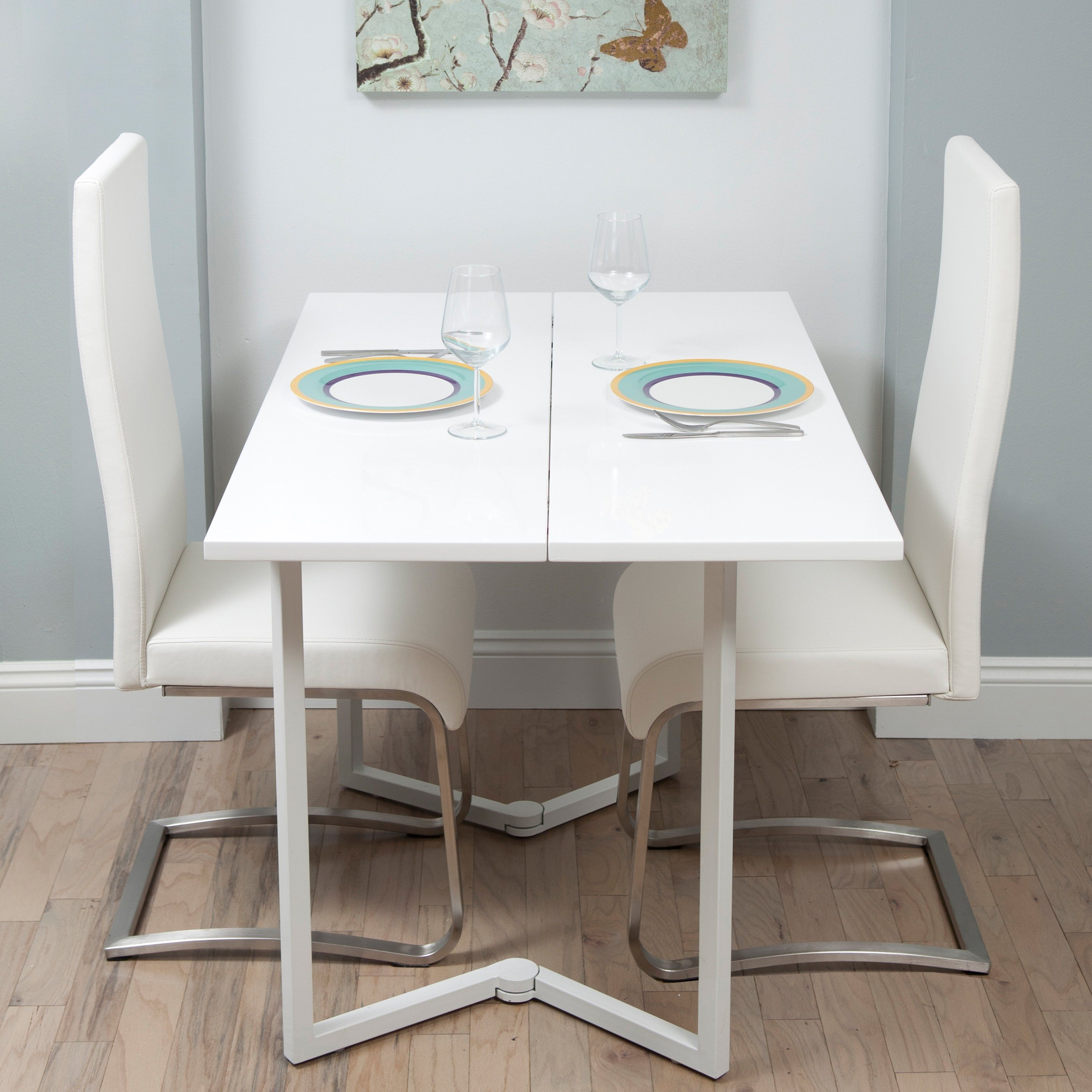 White Fold Away Dining Table And Chairs Ikea