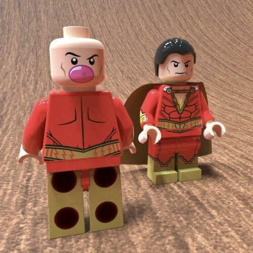 LEGO Custom PAD Printed Movie Shazam Minifigure by Royal Custom Minifigs