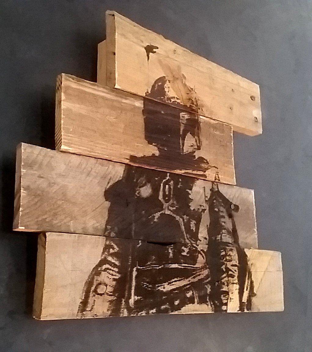 Boba fett star wars handmade artwork laser for Wood plank art ideas