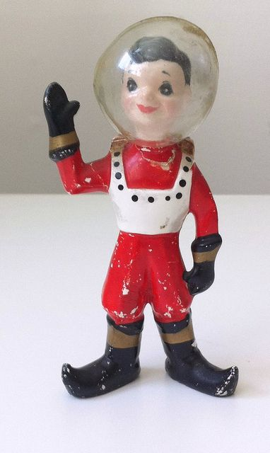 Kreiss Ceramic Astronaut Dated 1957 Space Toys Vintage Space Vintage Kitsch