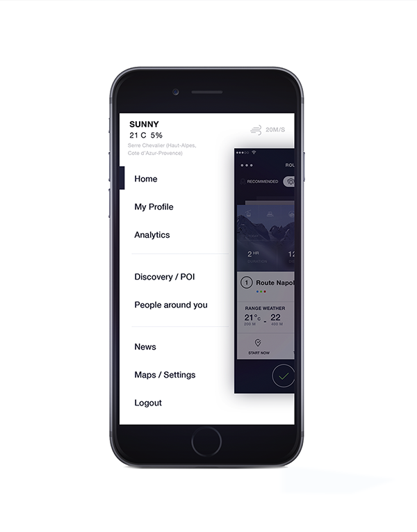 Simple App for Skiing on App Design Served