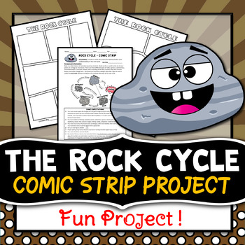 Rock Cycle Project Comic Strip Activity Distance Learning