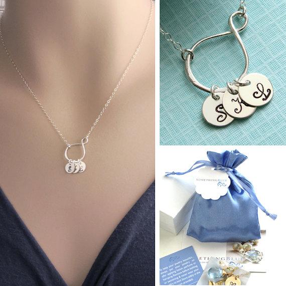 Infinity Loop & Initials Necklace, Infinity, Eternity Charm, Custom Jewelry, Personalized, Best Friend gift, Eternity Jewelry, New Mom gift