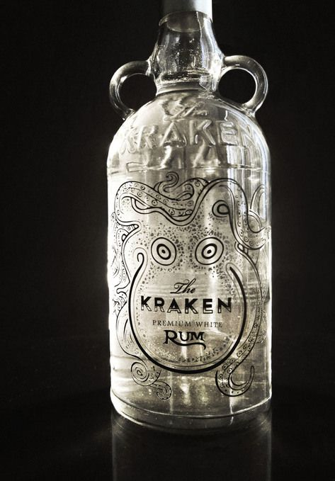 The kraken rum redesign on packaging design served - Kraken rum pictures ...