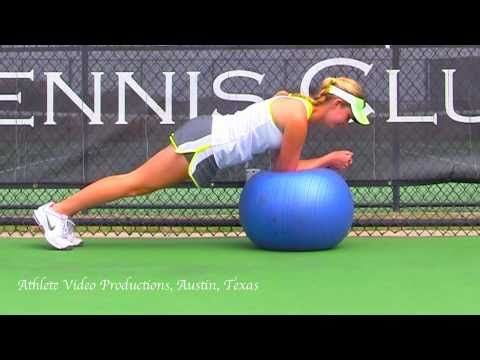 Strength training for tennis players.