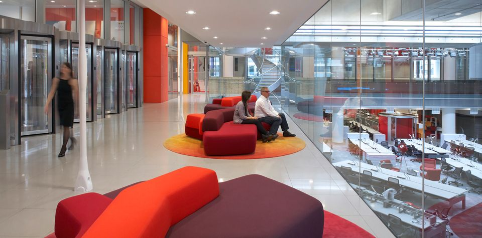 BBC New Broadcasting House Office Interior Design Pinterest