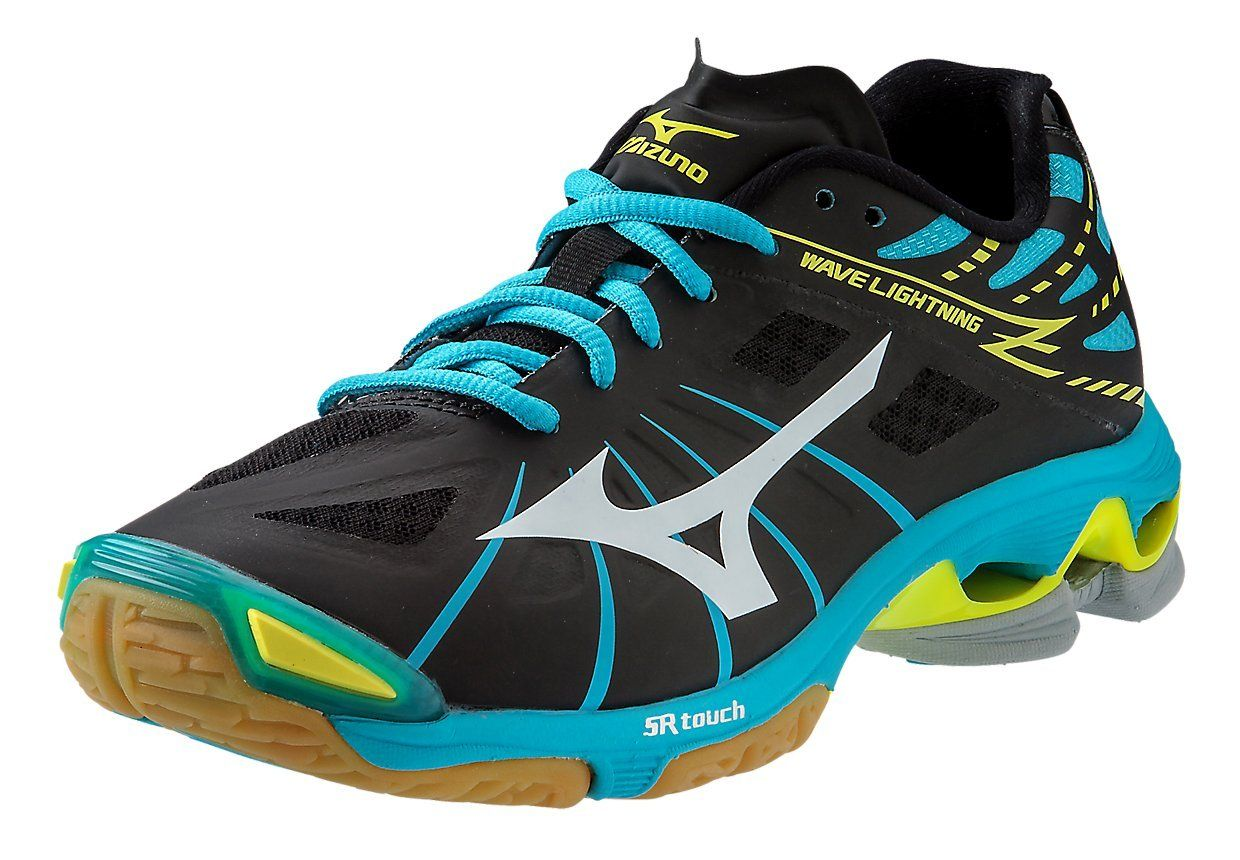 Mizuno Womens Wave Lightning Z Woms Bkab Volleyball Shoe Black Alaskan Blue 11 Bm Us You Can Find Out More De Volleyball Shoes Mizuno Shoes Badminton Shoes