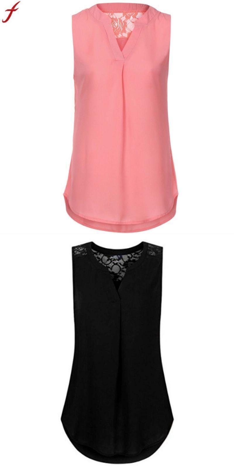 b5b69f46fae160 5xl summer tank tops 2018 sexy v neck back lace tunic tops chiffon  sleeveless vest casual