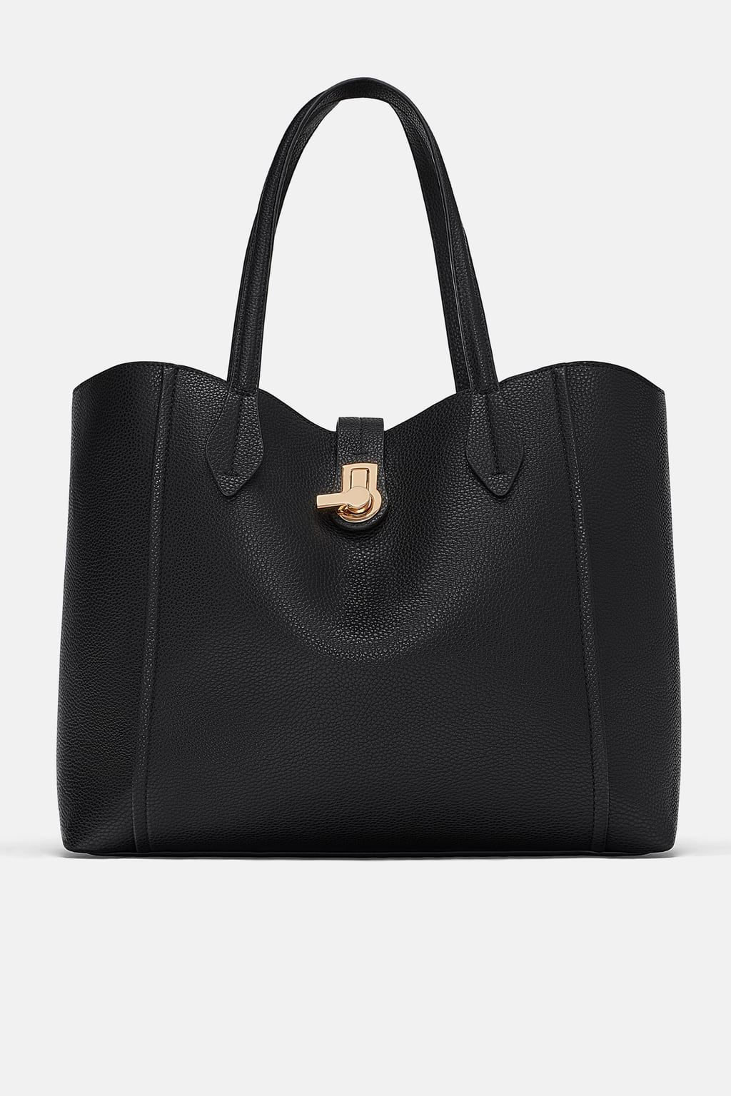 33eef550c8 Image 2 of TOTE BAG WITH METAL CLASP from Zara Handle, Shoulder Bag, Bags