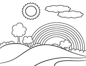Ausmalbild Regenbogen Wir Bleiben Zuhause Malvorlagen Fur Kinder Wenn Du Mal Buch Ausmalbilder
