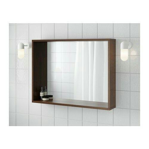 Großartig IKEA - MOLGER Spiegel, donkerbruin, 80x60 cm - € 39,99 | Badkamer  QZ37