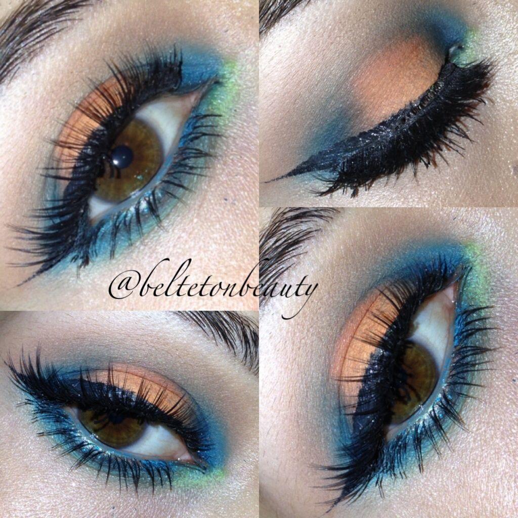 Eyes, eyeshadow, fun colors, makeup, colorful eyes, summer looks ...