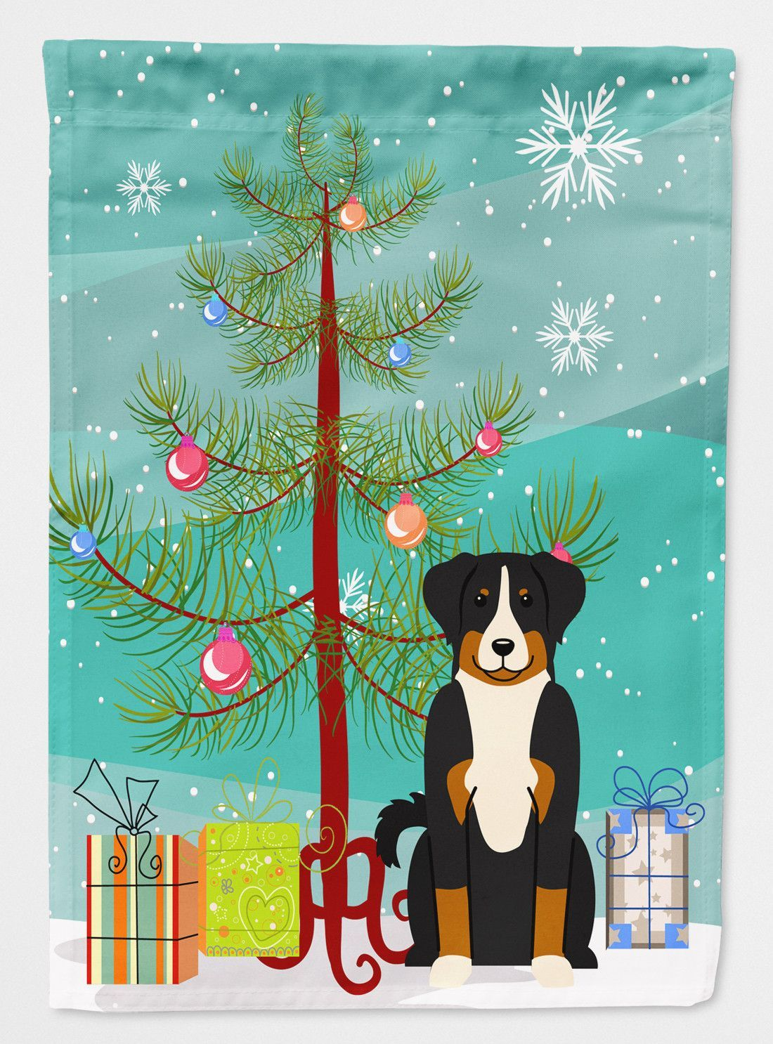 Merry Christmas Tree Appenzeller Sennenhund Flag Garden Size Bb4168gf Christmas Tree Flag Christmas Flag Dog Flag