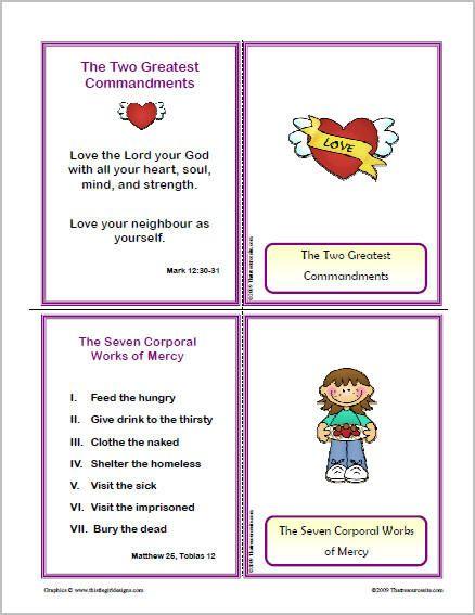 spiritual works of mercy worksheet - Google Search | Catholic in me ...