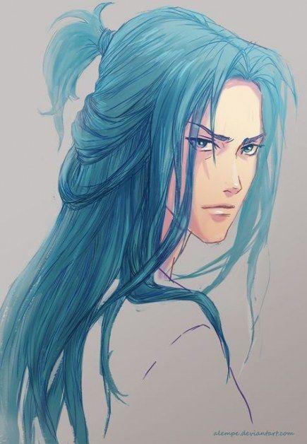 59 Ideas Hair Blue Boy Guys Anime Blue Hair Anime Boy