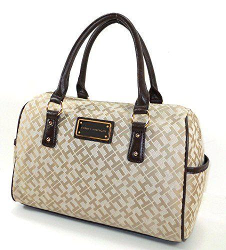 bb36212d3c39d0 Tommy Hilfiger Handbag, Signature Jacquard Bowler Satchel | Designer ...