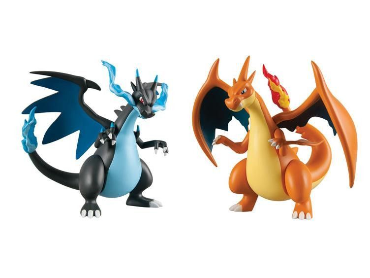 pokemon 7 mega evolved vinyl figure set of 2 mega charizard x mega charizard y
