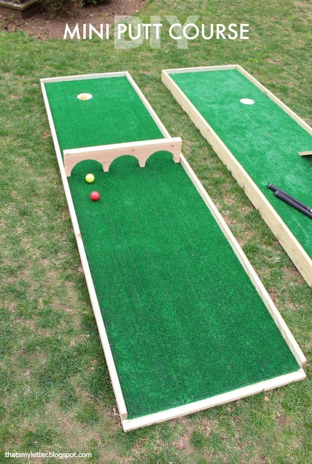 Diy Mini Putt Course Outdoor Yard Games Yard Games For Kids Backyard Party Games