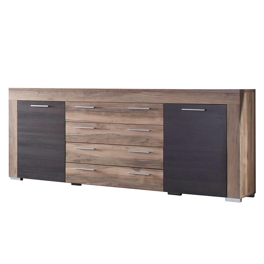 Sideboard nussbaum  Sideboard Bang - Nussbaum-Satin/Dunkelbraun-Touchwood Dekor ...