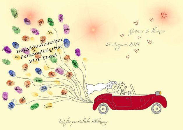 """*Hochzeitsbaum Cabrio LUFTBALLONS* Sie suchen ein besonderes Geschenk für ihr Brautpaar? Dann sind Sie hier richtig! Mit diesem """"Gästebuch"""" überraschen Sie nicht nur das Brautpaar und Ihre Gäste..."""
