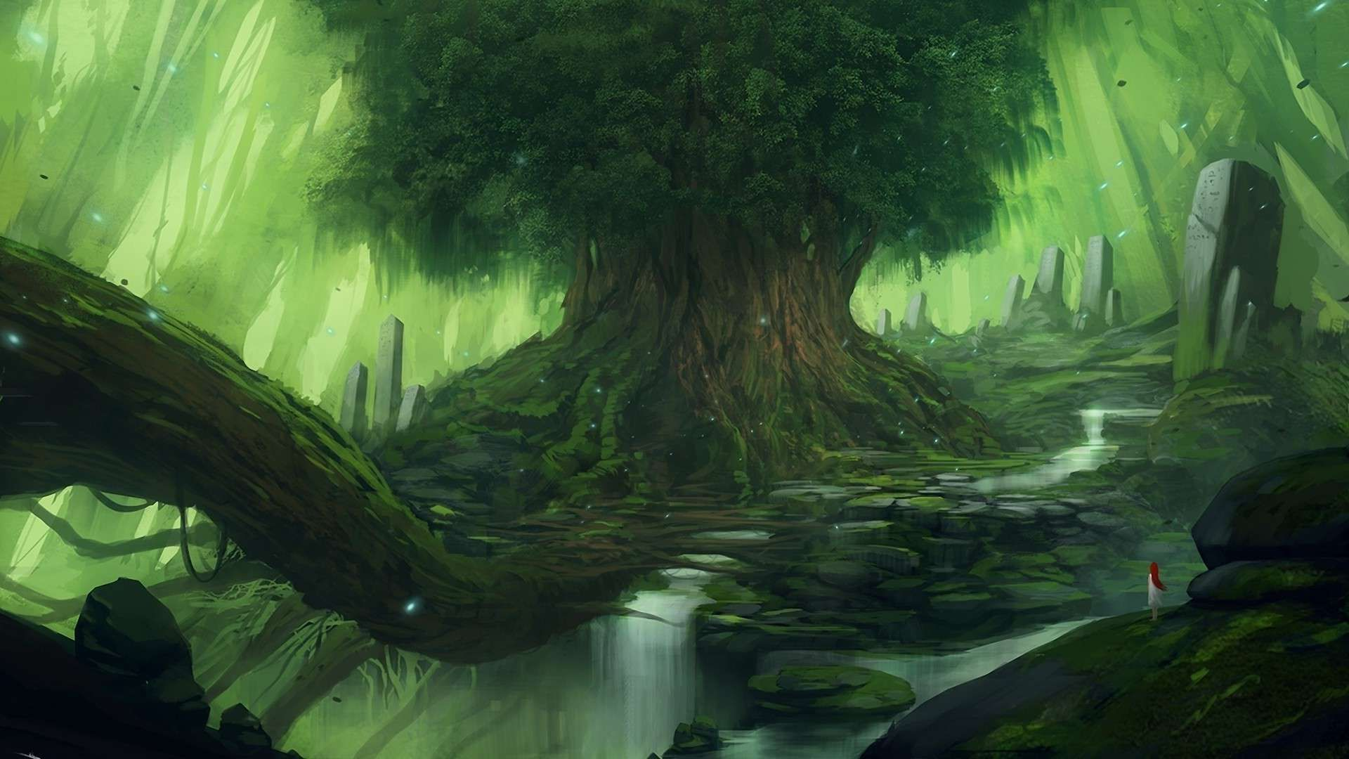 Fantasy Forest Wallpaper Images Tdh4b Wallove Fantasy Landscape Fantasy Art Landscapes Fantasy Tree