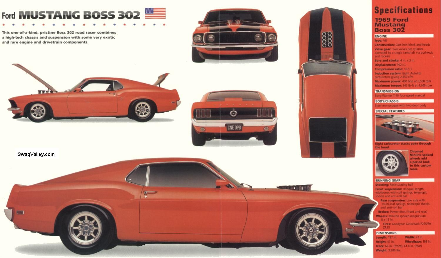 1969 Ford Mustang Blueprints Mustang Boss Ford Mustang Boss Ford Mustang