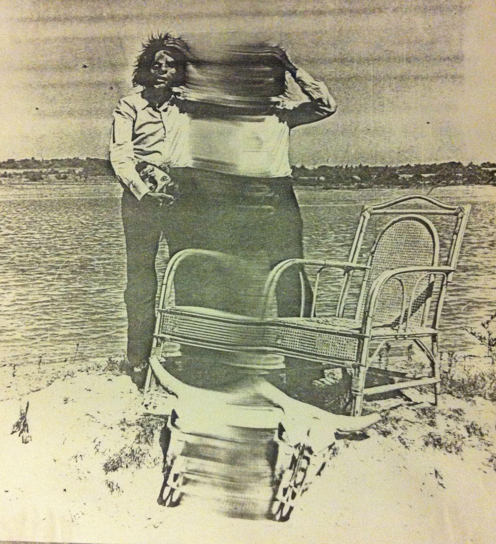 El artista venezolano Juan Loyola. (de la serie de fotocopias que realiza a finales de la década del setenta y principio de los años ochenta)