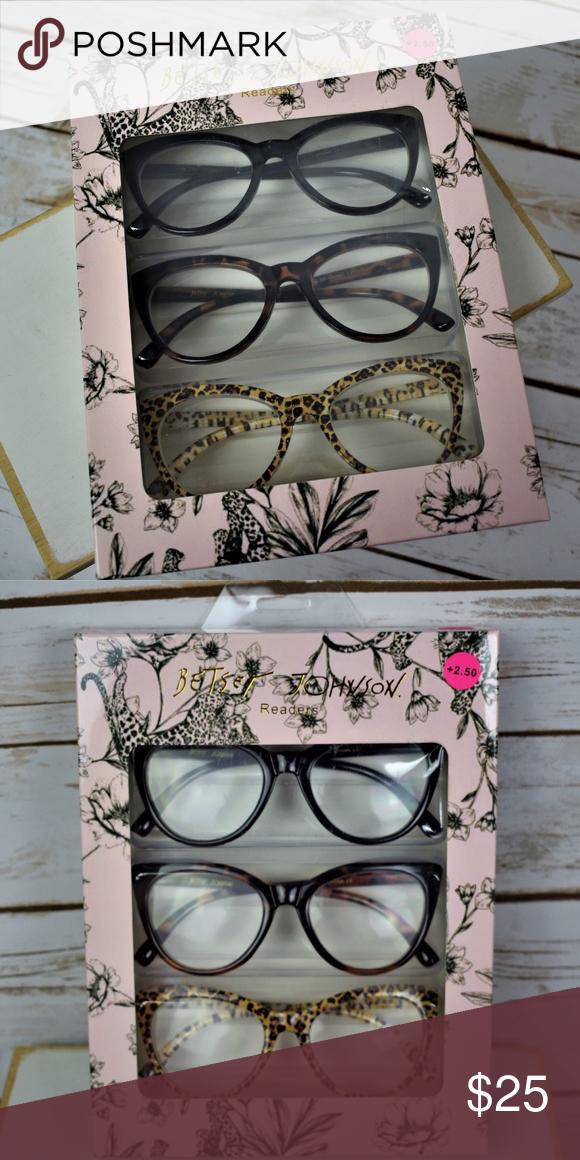 Betsey Johnson Cat Eye Reading Glasses 2.50 NWT Cat Eye