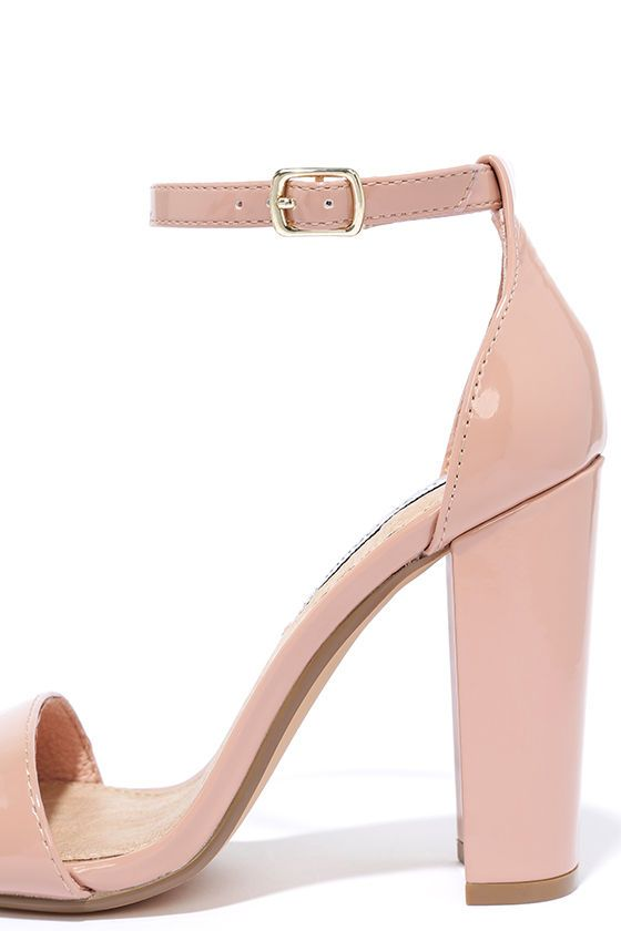 The Steve Madden Carrson Blush Patent Ankle Strap Heels are on fire with a  simple design