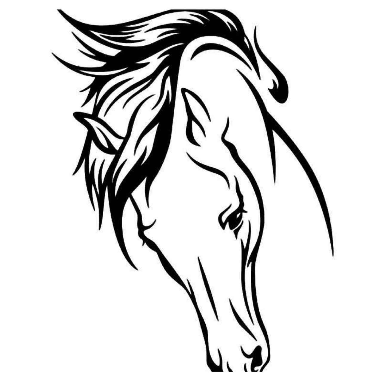 Stallion Horse Head Vinyl Decal Sticker