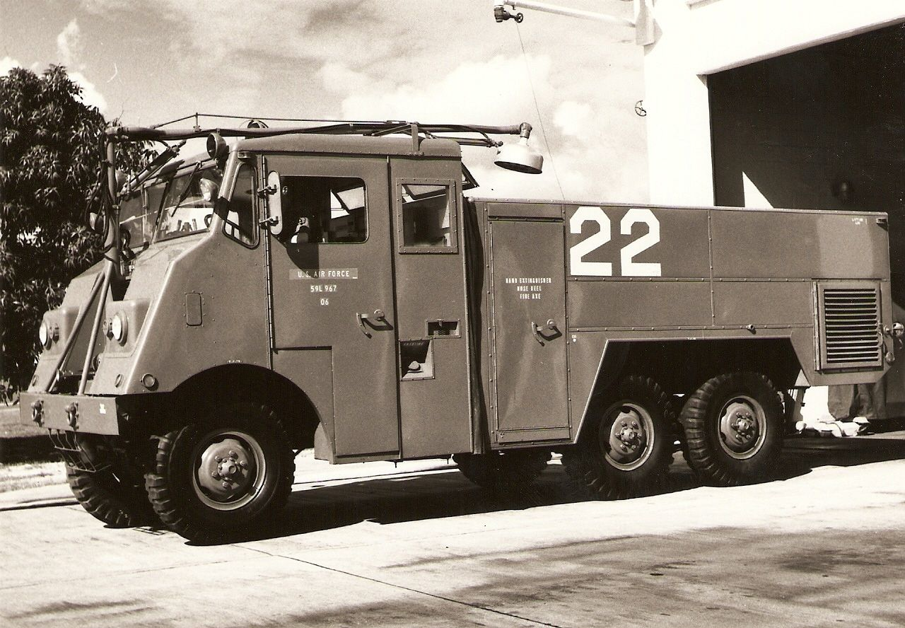Air force military fire trucks 1950s otis air force base fire