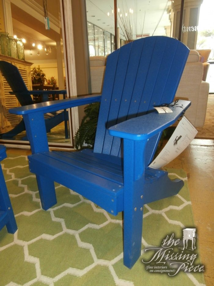 Adirondack Chair In Blueberry Blue Measuring 30 31 36