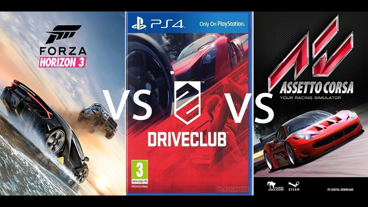 forza horizon 3 vs driveclub vs assetto corsa | ferrari fxx k