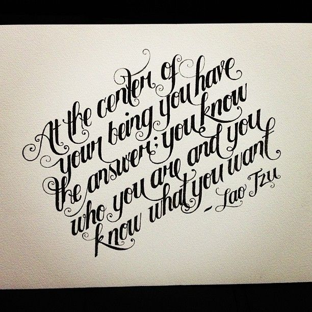 Chris Script Writing Tattoo S: Lao Tzu-ism :) #lettering #calligraphy #typography #type