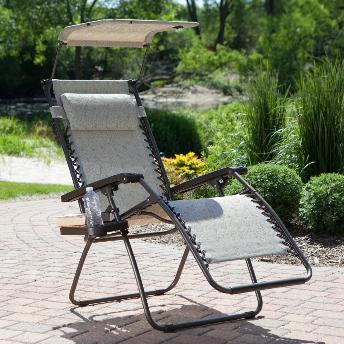 Newton's Taupe Leaf Gravity Free Recliner