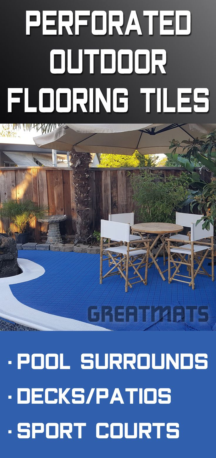 Patio Deck Tiles Recycled Rubber: Pool Deck Tiles And Mats