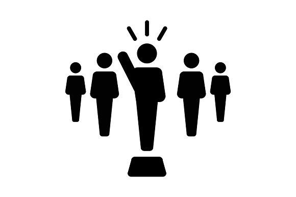 Leader, Leadership, Manager Vector. Human Icons. $2.00