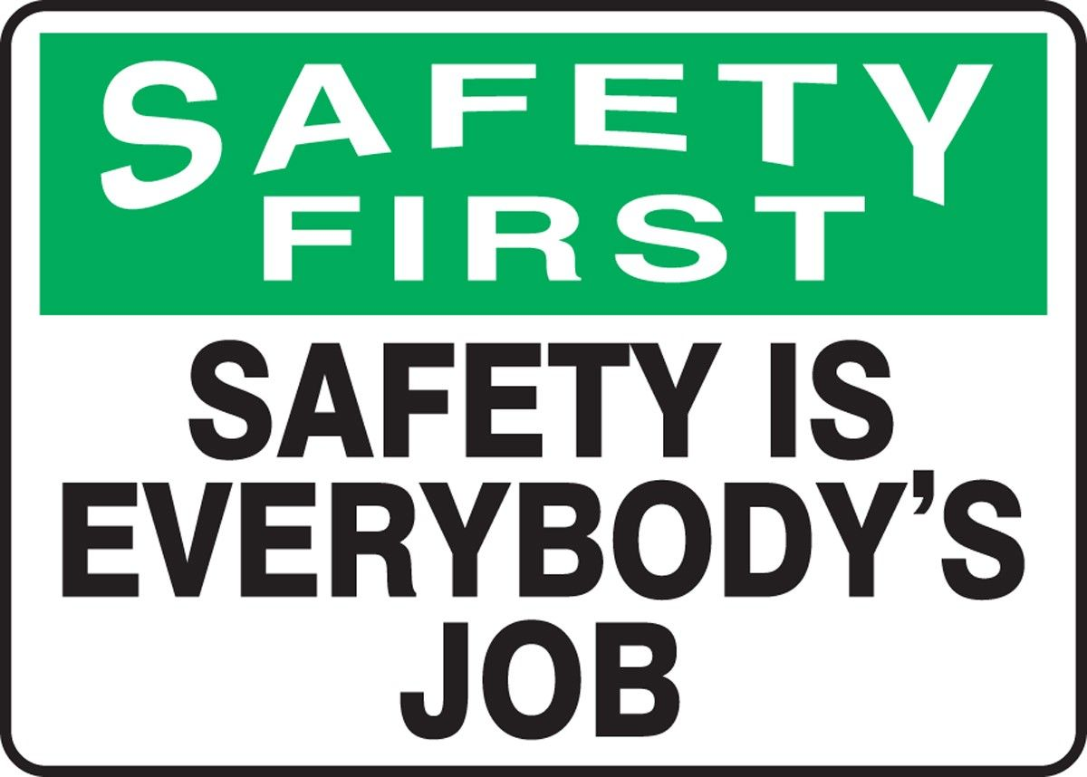 Safety Message of the Day: Unless an emergency, don't ...