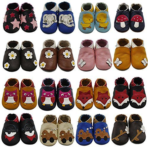 d1dbf9d656f49 Mejale Baby Shoes Soft Sole Leather Crawling Moccasins Cartoon Fox ...