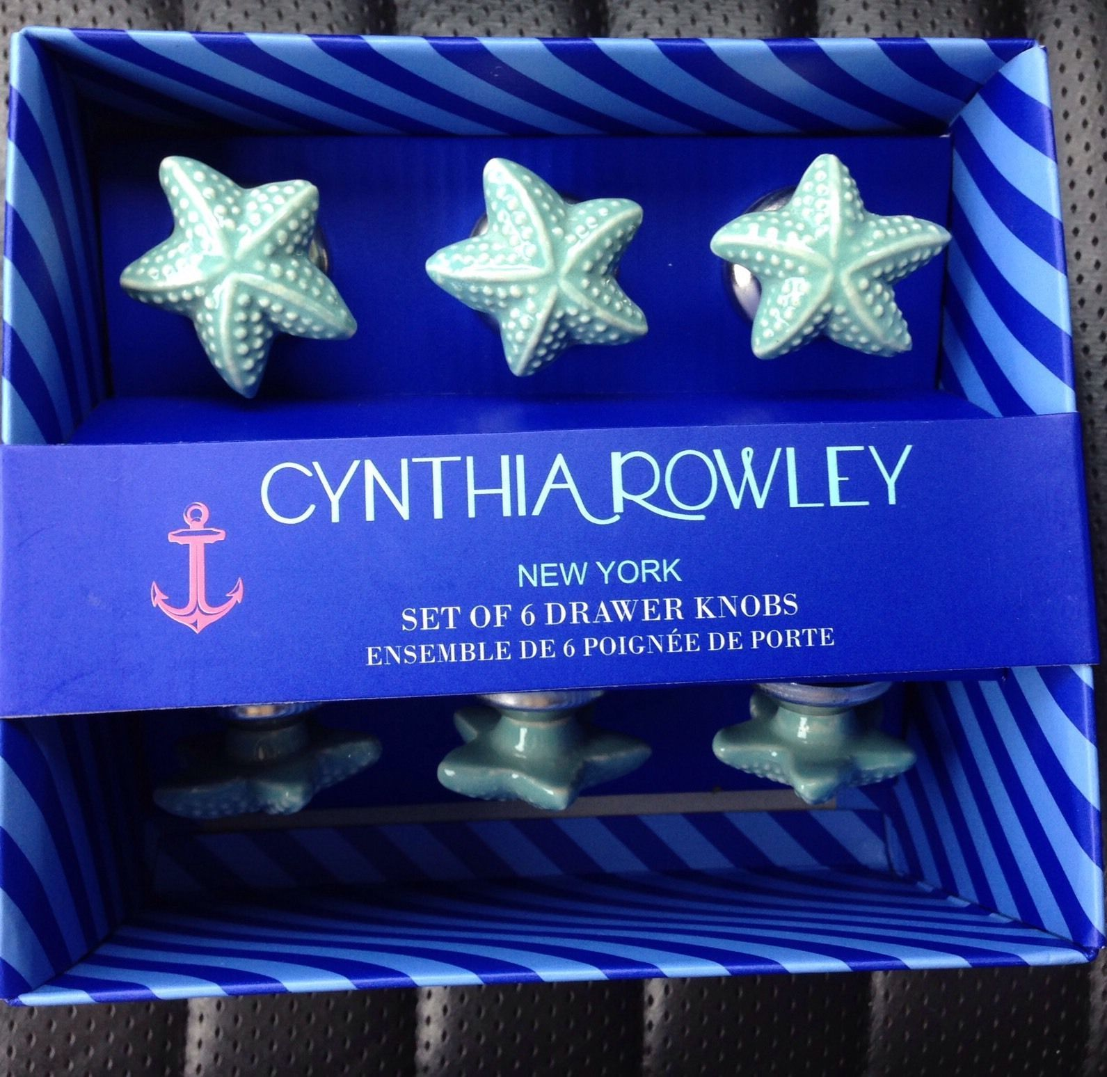 Great Cynthia Rowley Ceramic Sea Shell Drawer Cabinet Pulls Round Knobs Starfish  | EBay