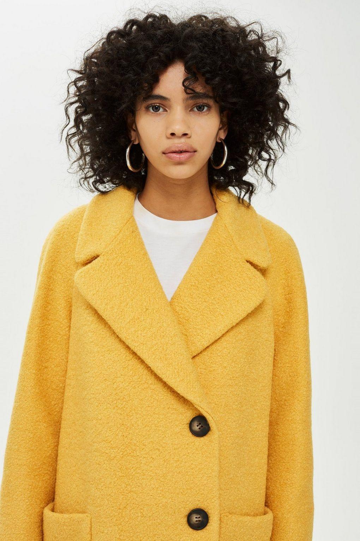 2019 heißer verkauf billiger Verkauf Ausverkauf Bouclé-Mantel mit Ziernähten - Jacken & Mäntel - Bekleidung ...