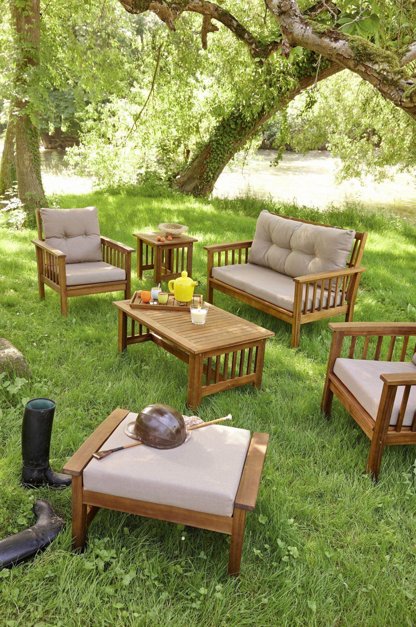 Salon De Jardin En Palette Genial Table Jardin Teck Luxe Banc Bois