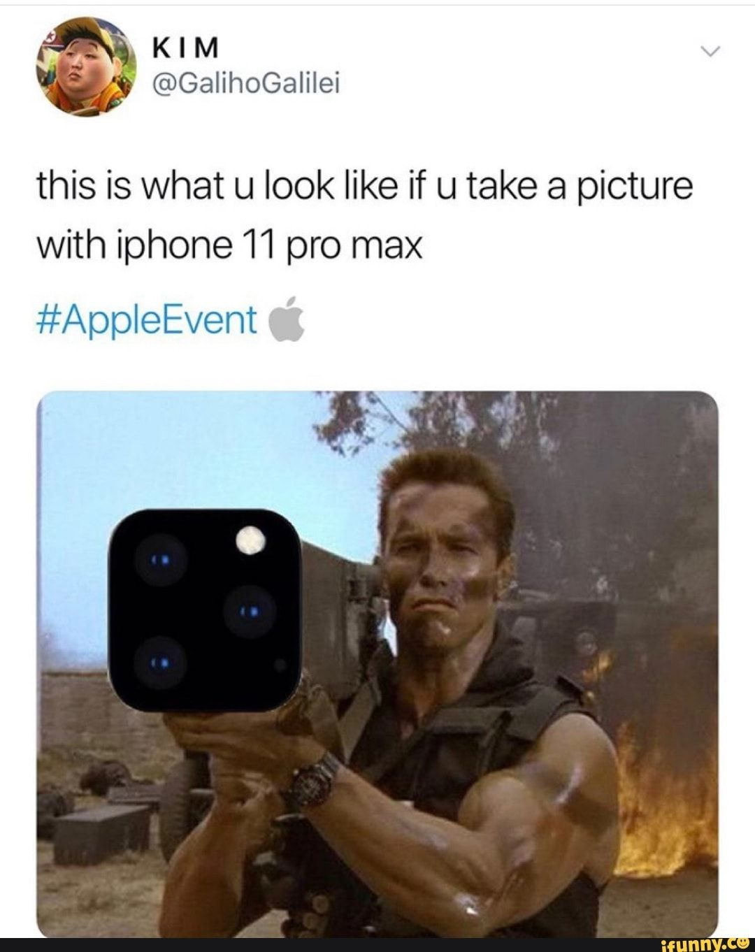 This Is What U Look Like If U Take A Picture With Iphone 11 Pro Max Appleevent Ifunny In 2020 Memes Ironic Memes Funny Memes