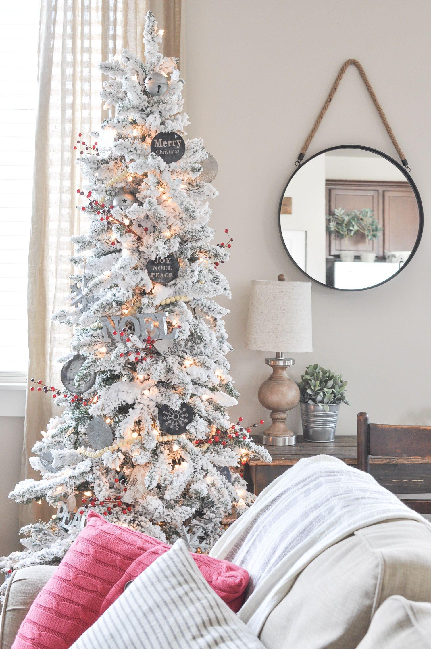 Modern Farmhouse Christmas Tree Farmhouse Christmas Tree Christmas Tree Quotes Affordable Christmas Decorations