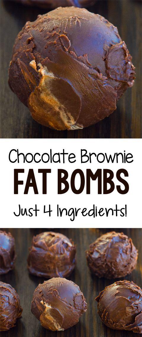 Keto Brownie Bombs - 4 Ingredients!